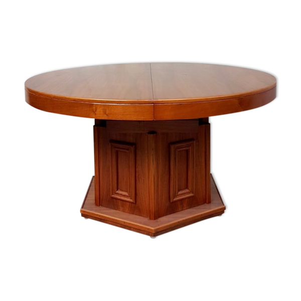 Selency Table à manger circulaire en bois de rose
