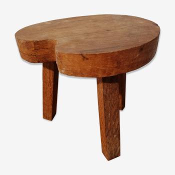 Ancien tabouret en bois