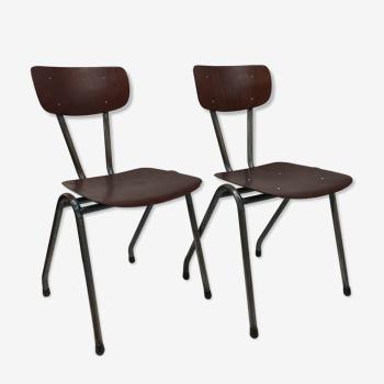 Paire de chaises Pagholz