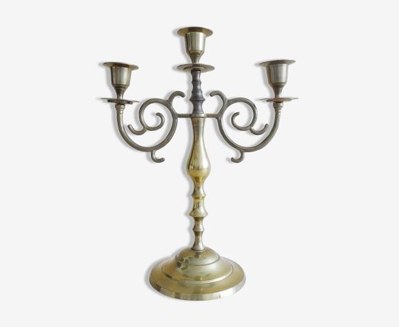 Chandelier en laiton à trois bras de style antique