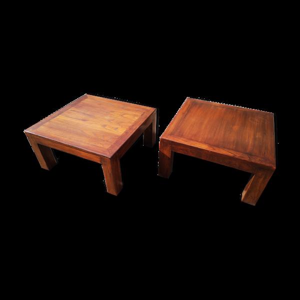 Paire de tables d'appoint en bois