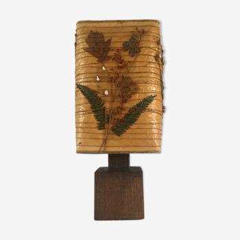 Lampe vintage en bois massif années 70