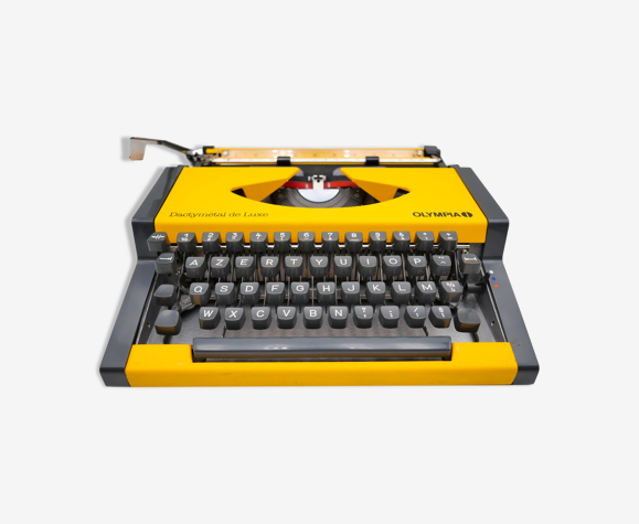 Olympia Dactymetal DeLuxe Typewriter Yellow Revised Ribbon New