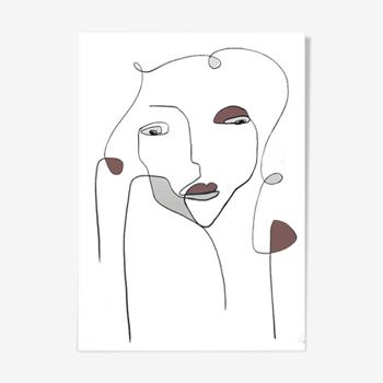 Woman in colour - 30x42cm