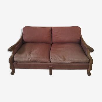 Canapé 2 places en chêne