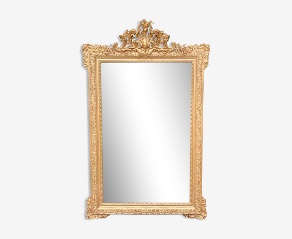 Miroir doré Louis XV 98x156cm