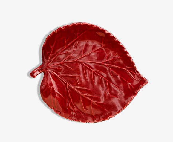Dessous de plat en faience forme feuille