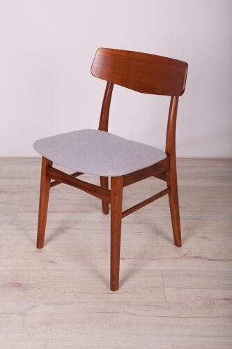 Chaises à manger en teck du milieu du siècle, années 1960