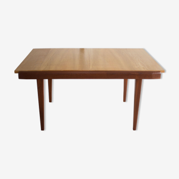 Extensible in the 1960s teak dining table