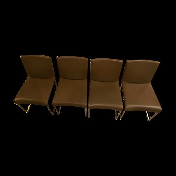 Chaises de salon Solo par Antonio Citterio pour B&B Italia