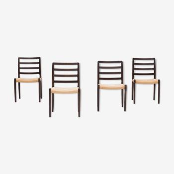 Set de 4 chaises à manger 'modèle 84' par Niels O. Møller pour J.L. Møller, Danemark, années 1960