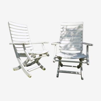 Herlag wooden garden chairs 80s