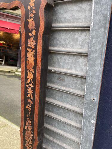Miroir à fleur en marqueterie 110x145cm