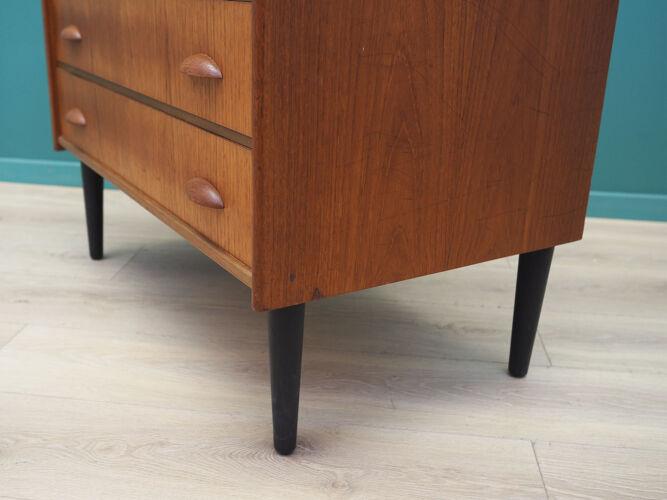 Coiffeuse en teck, design scandinave, années 1960, fabriquée par SW Finland