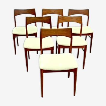 Chaises danoises Henning Kjaernulf Vejle Stole & Mobelfabrik Teck 1960