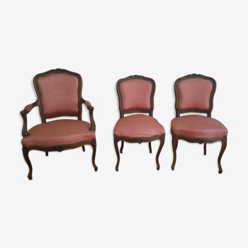 Canapé, fauteuil et chaises style Louis XV