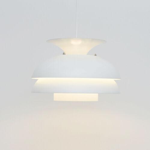 Vintage White pendant lamp, Danish 1970s