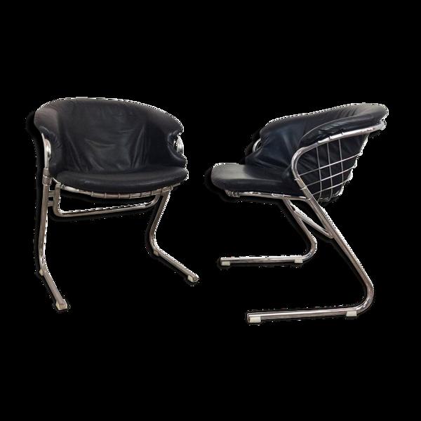 Selency Ensemble de 2 chaises de Gastone Rinaldi 'Flynn' 1970's
