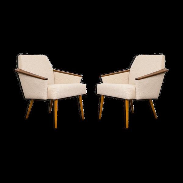 Selency Paire de fauteuils du milieu du siècle