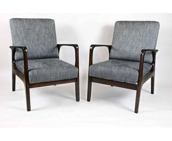 Canapé triple vintage avec deux fauteuils des années 70