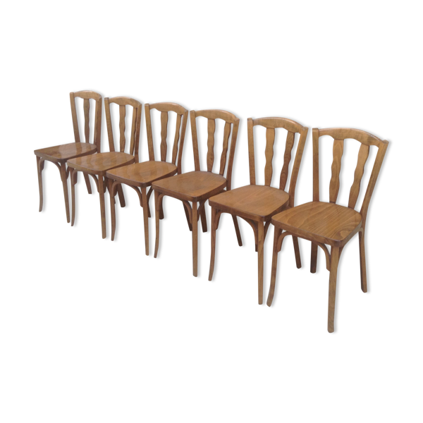 Suite de 6 chaises bistrot Baumann