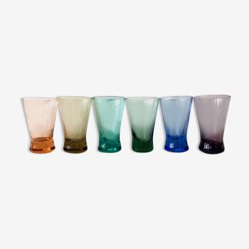 Set de 6 verres à alcool colorés