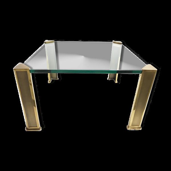 Selency Table basse en bronze par Peter Ghyczy années 1970