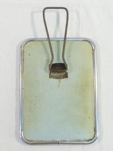 Miroir de barbier en metal a poser vintage 18 X 13, 5 cm