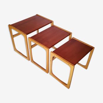 Tables gigognes de style scandinave des années 70