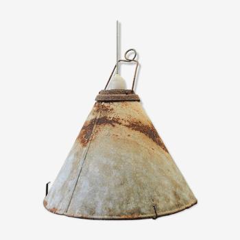 Lampe en métal, style industriel, années 50