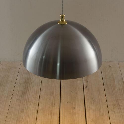 Suspension en aluminium danois avec dessus en laiton, années 70