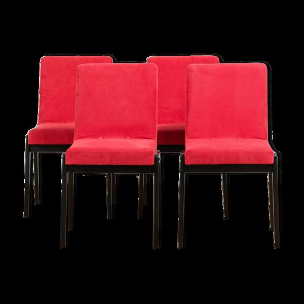 Ensemble de 4 chaises AGA par J. Chierowski, années 70
