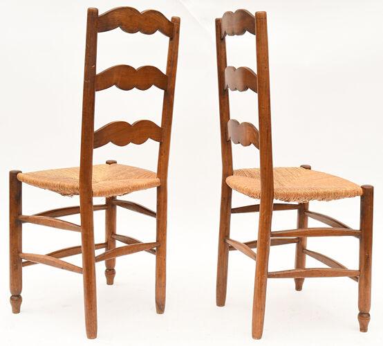 5 chaises paillées