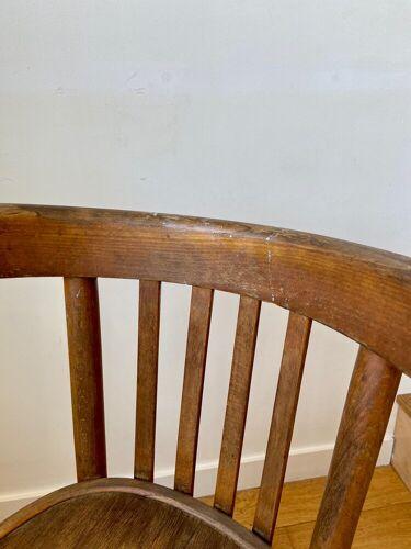 Chaise bistrot en bois foncé