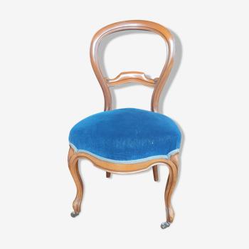 Chaise Louis Philippe tapissée