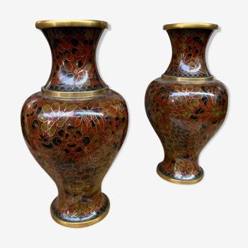 Vases cloisonné