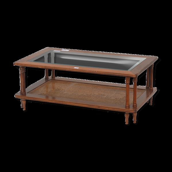 Table basse à deux plateaux