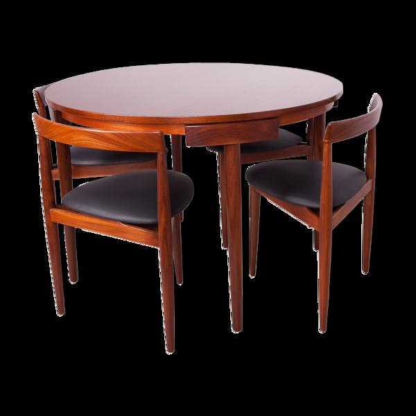 Set de tables et 4 chaises par Hans Olsen pour Frem Røjle années 1950