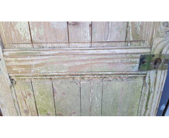 Porte ancienne en sapin patine d'origine