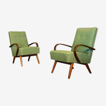 Paire de fauteuils type 53 de Jaroslav Smidek pour Ton