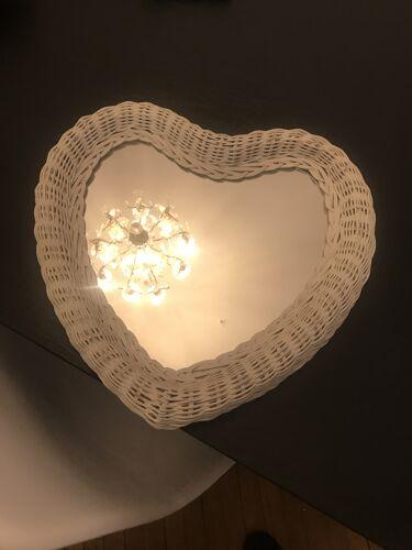 Miroir osier cœur
