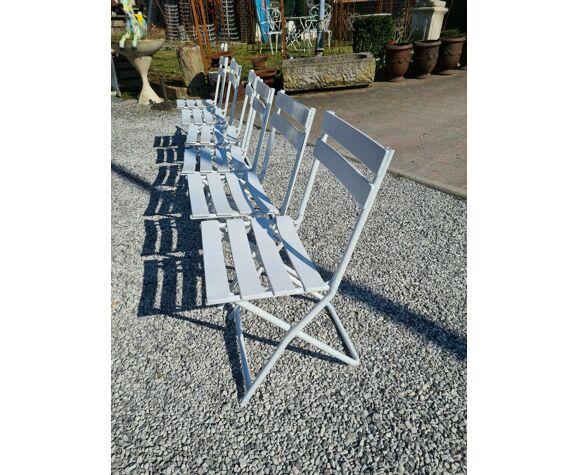 Chaises de jardin en fer pliantes