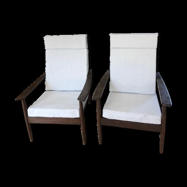 Paire de fauteuils style scandinave
