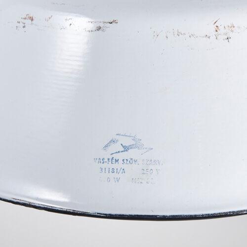 Suspension en métal blanc «Szarvasi»