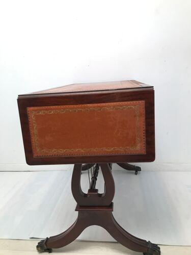 Bureau de style anglais lyre en bois