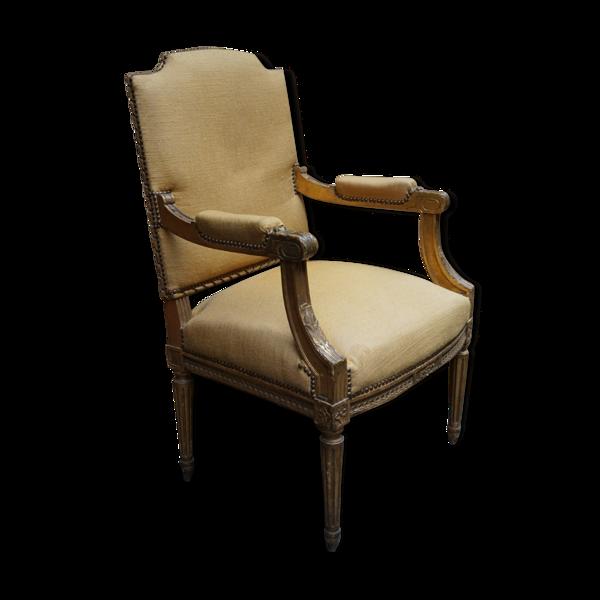 Fauteuil Louis XVI avec repose-pieds