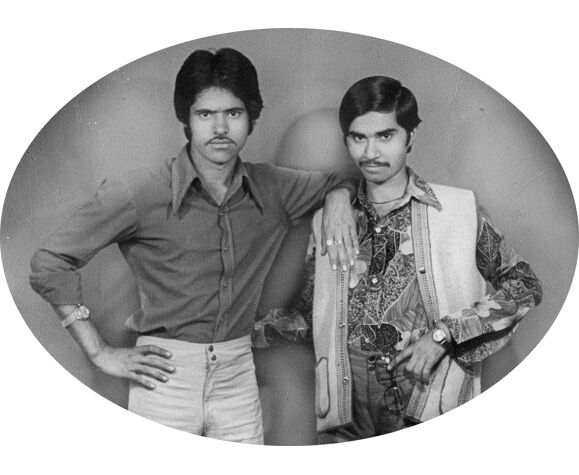 Portrait of two friends in Jaipur