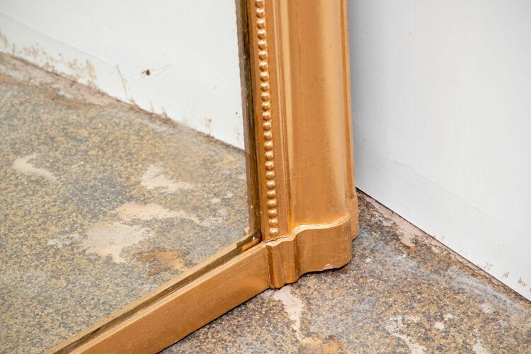 Miroir Louis-Phillipe, cadre en bois doré - 133x99cm