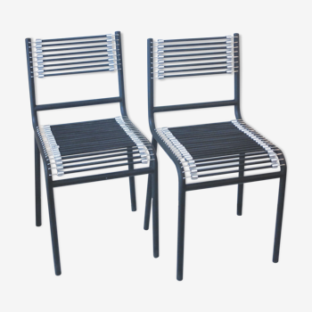 Paire de chaises modernistes Sandow René Herbst pour Ecart