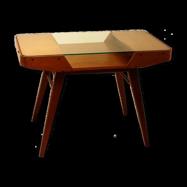 Table basse vintage chêne